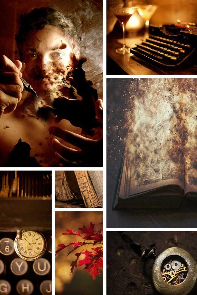 Collage aus sieben Bildern mit gleicher Farbtemperatur