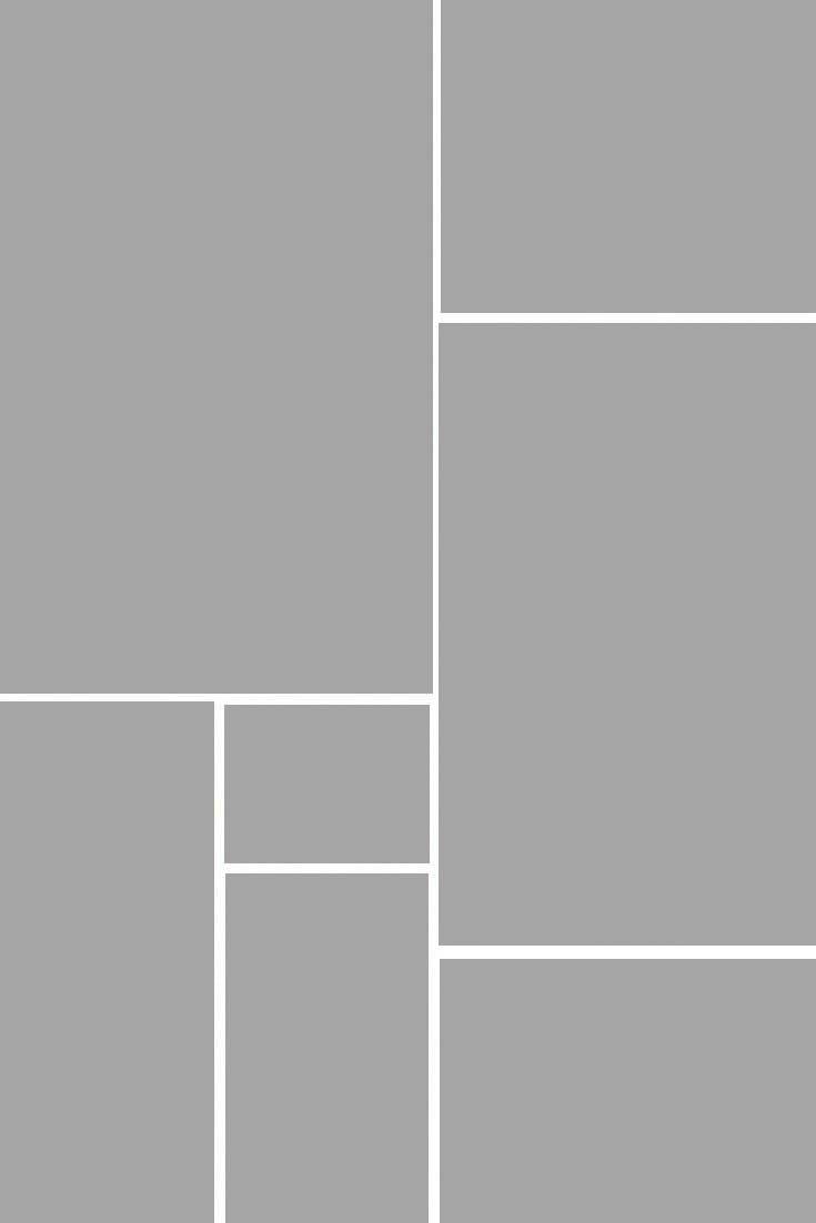 Anordnung von grauen Flächen, in denen Bilder platziert werden